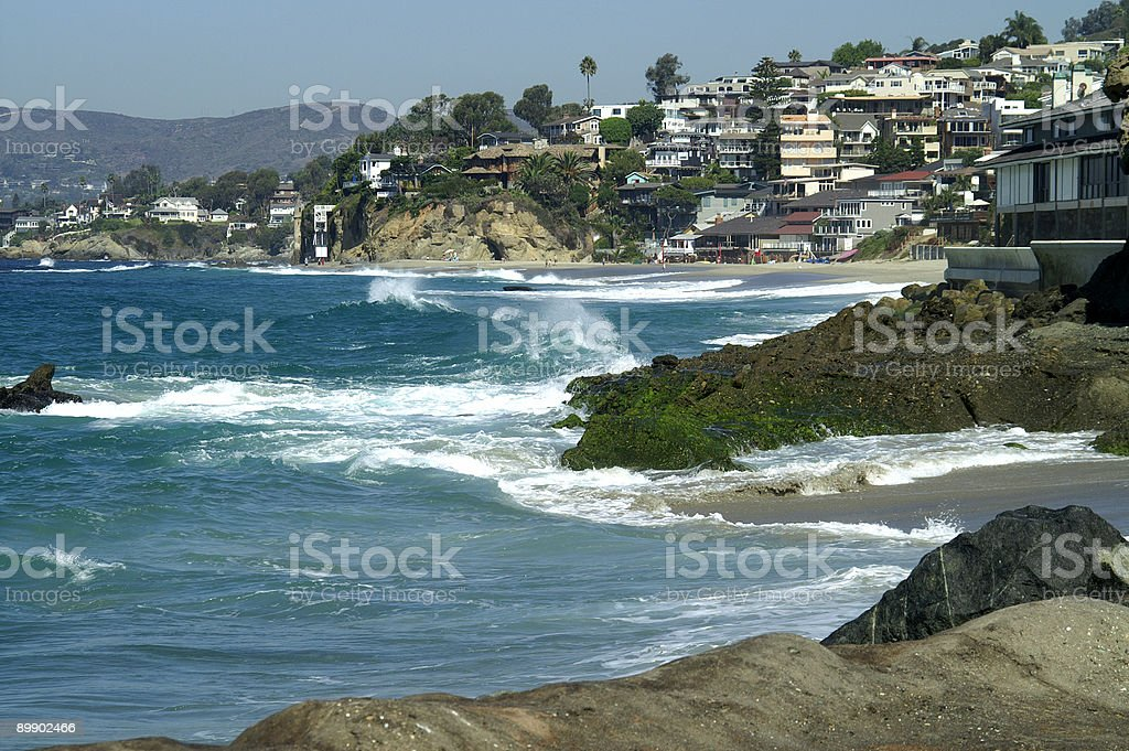 Laguna Beach Costa foto stock royalty-free