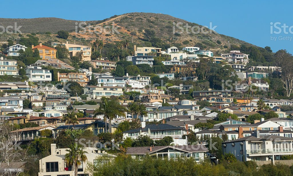 Laguna Beach Homes- Orange County stock photo