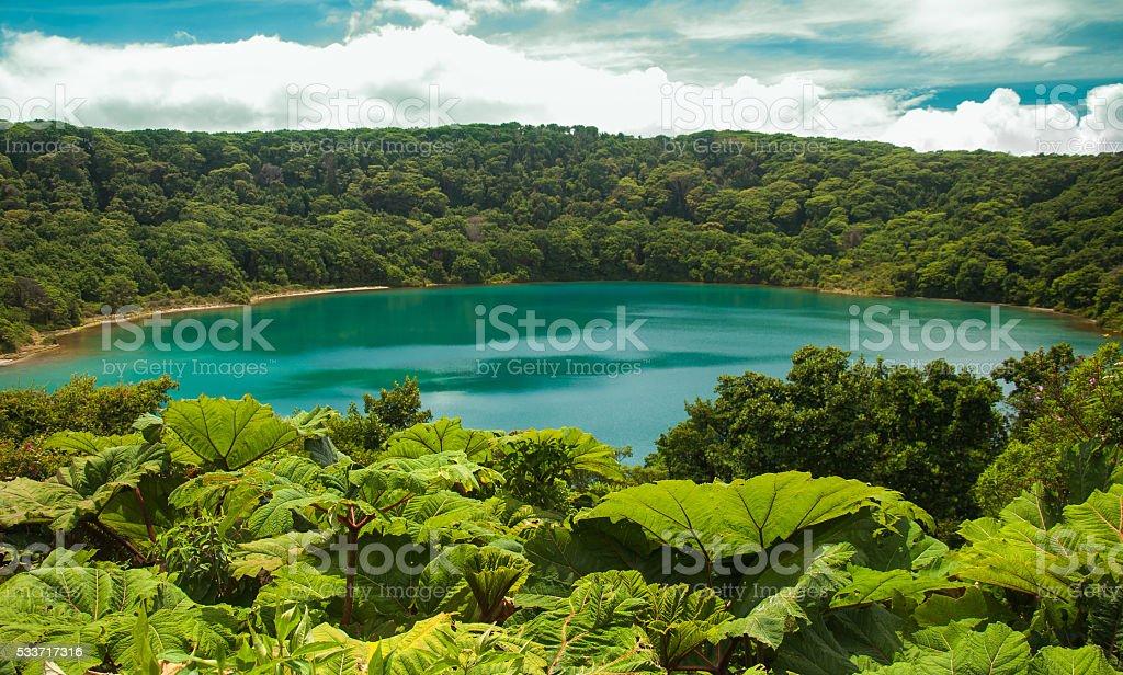 Laguna Botos, Poas National Park of Costa Rica stock photo