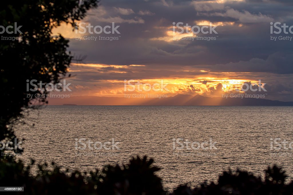 Laguna Clouds over Catalina Island stock photo