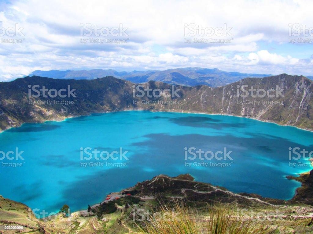 Laguna de Quilotoa, Ecuador stock photo