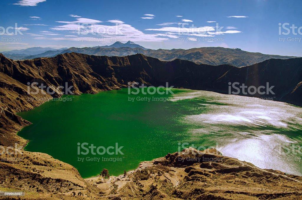 Laguna de Quilotoa - Quilotoa lake stock photo