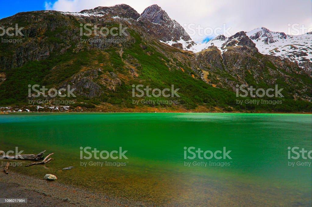 Laguna Esmeralda - Lago Esmeralda – Ushuaia, Tierra Del fuego, Argentina - foto de acervo