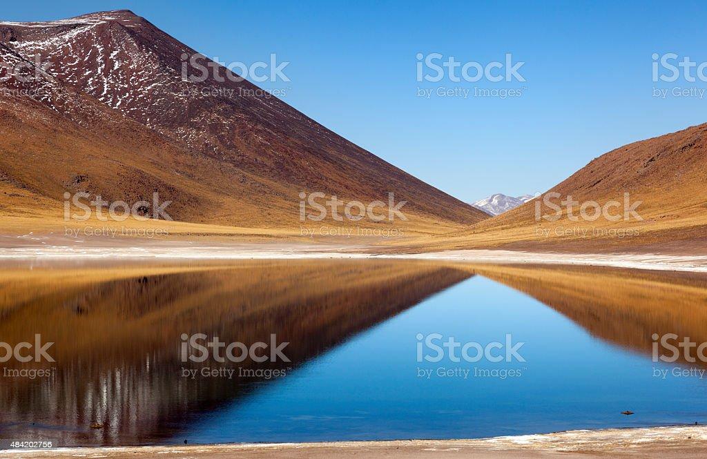 Laguna Miñiques stock photo