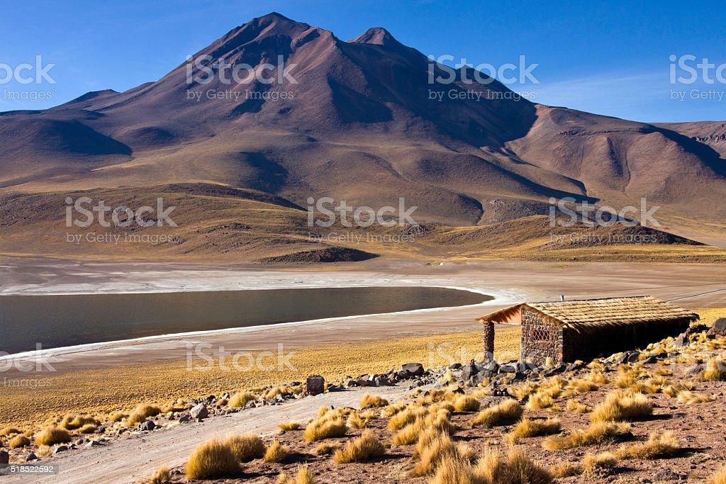 Laguna Miscanti in the High Andes Mountains - Atacama Desert stock photo