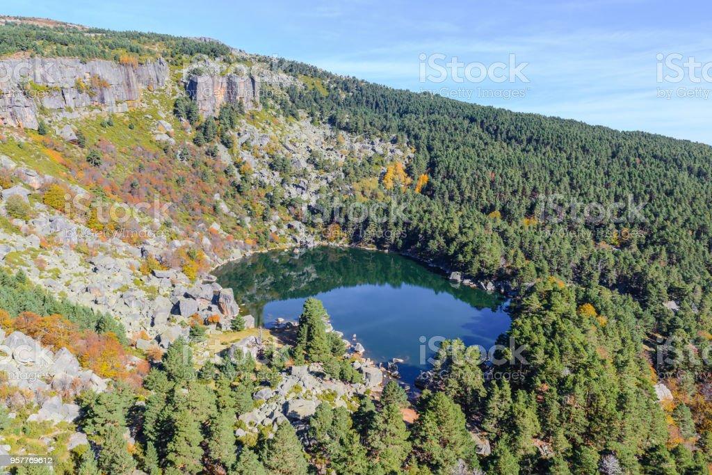 Laguna Negra lake in Soria, Spain stock photo
