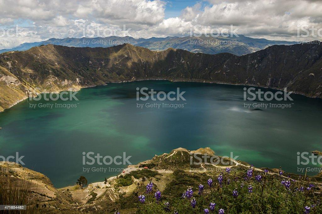 Laguna Quilotoa, Ecuador. stock photo