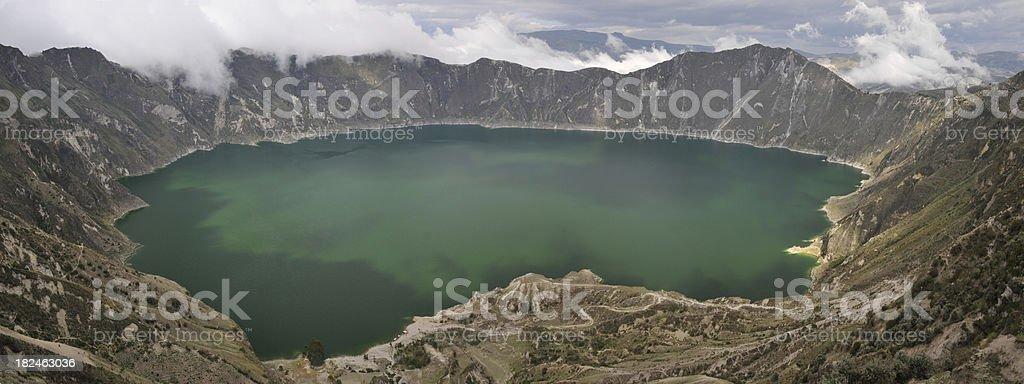 Laguna Quilotoa stock photo