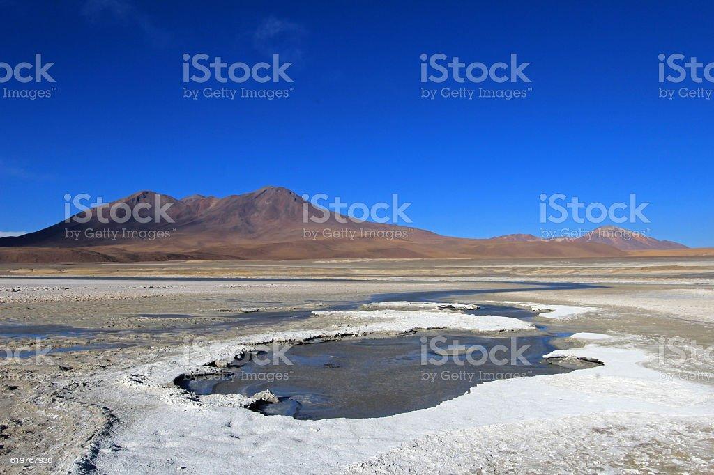 Laguna Ramaditas, altiplano, Bolivia stock photo