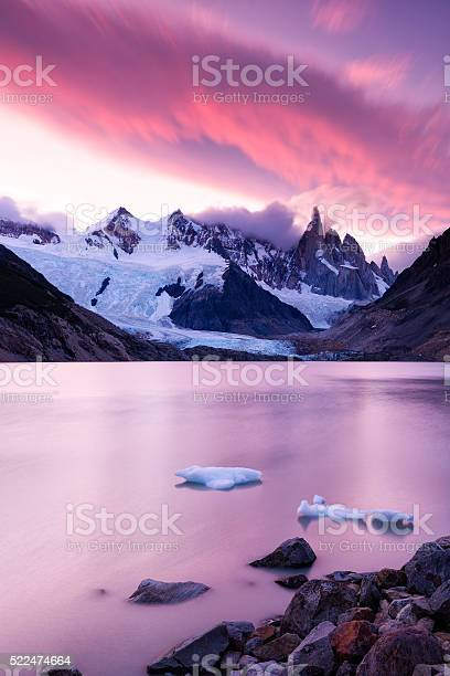 Photo of Laguna Torre and Cerro Torre at Sunset, Patagonia, Argentina