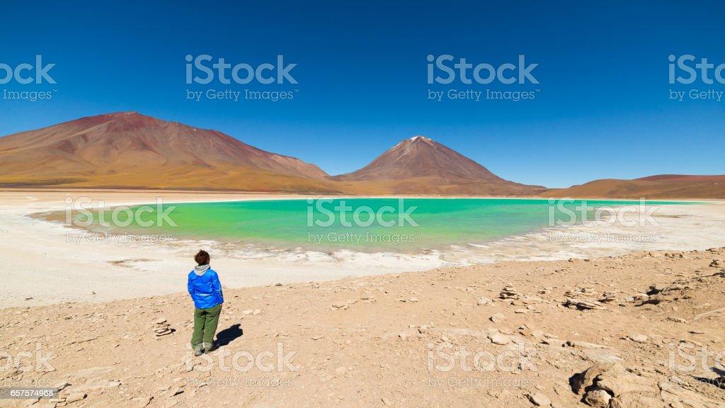 Laguna Verde, Bolivia stock photo