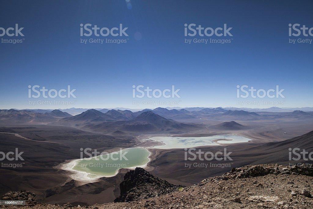 Laguna Verde Bolivie stock photo