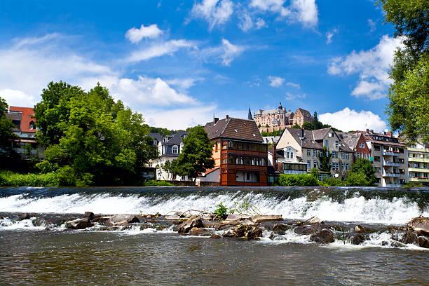Lahn river in Marburg foto