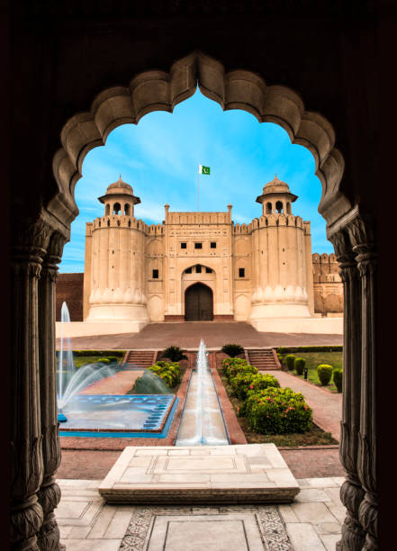 Lahore fort - Shahi fort Lahore stock photo