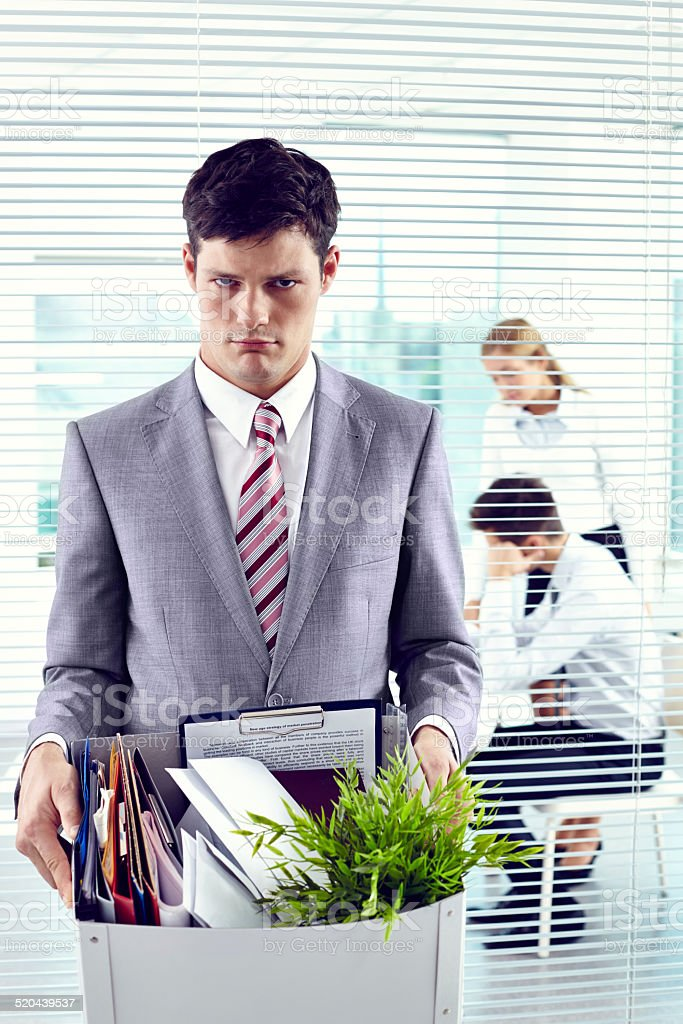 Laid off stock photo