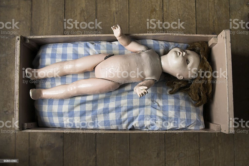 Laid Old Doll royalty-free stock photo