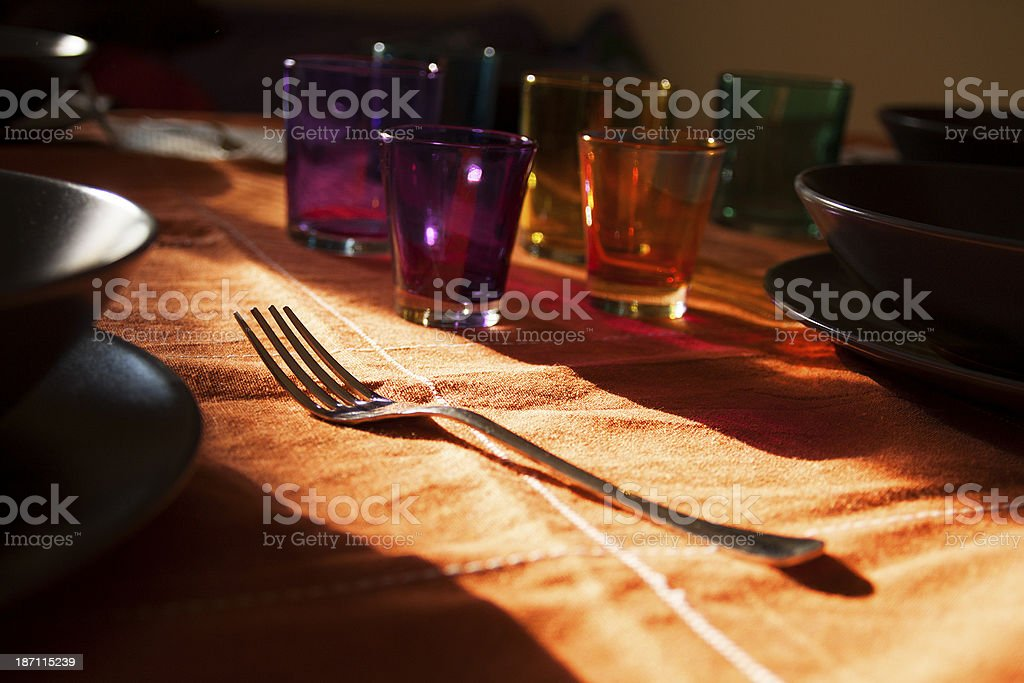 Laid table royalty-free stock photo