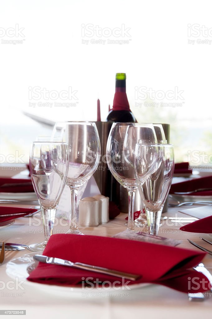 Laid Table stock photo