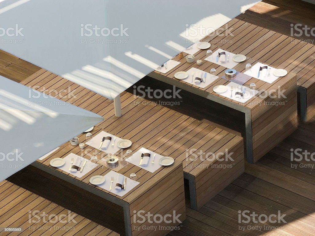 Laid Tables 1 royalty-free stock photo