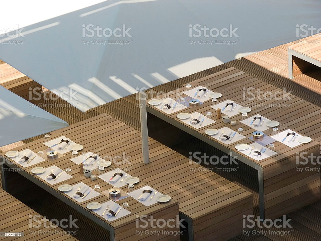 Laid Tables 2 royalty-free stock photo
