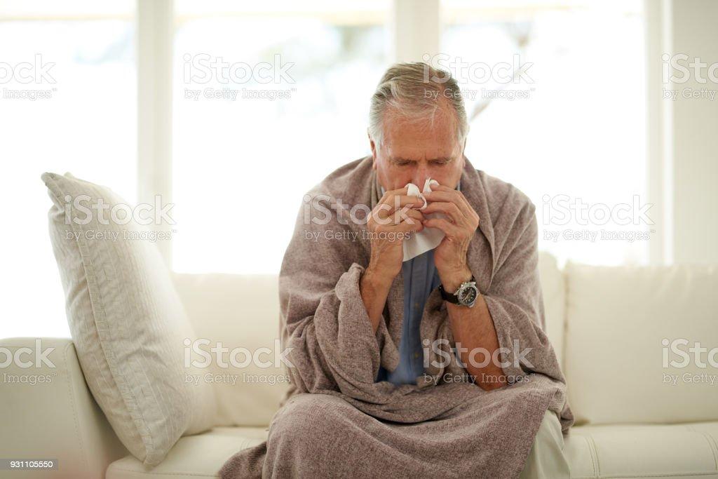 Aufgelegt mit der Grippe – Foto