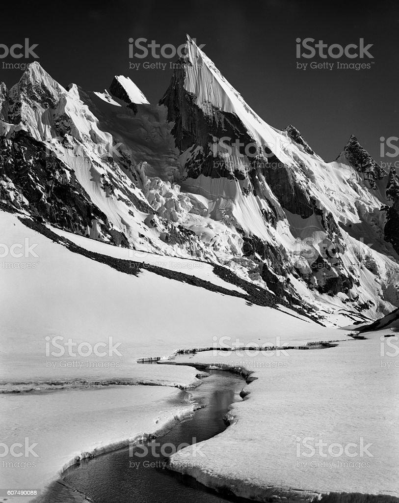 Laila peak. stock photo