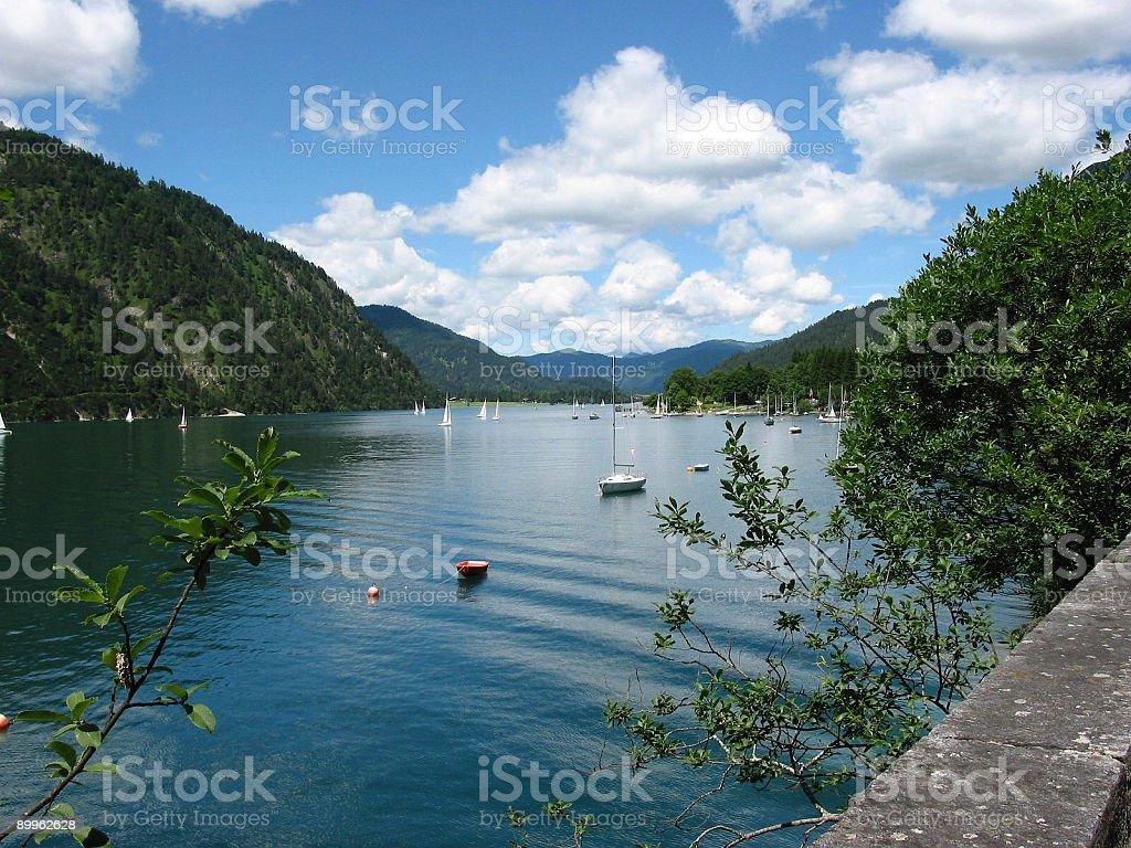 Lake Achensee view toward Achenkirch royalty-free stock photo