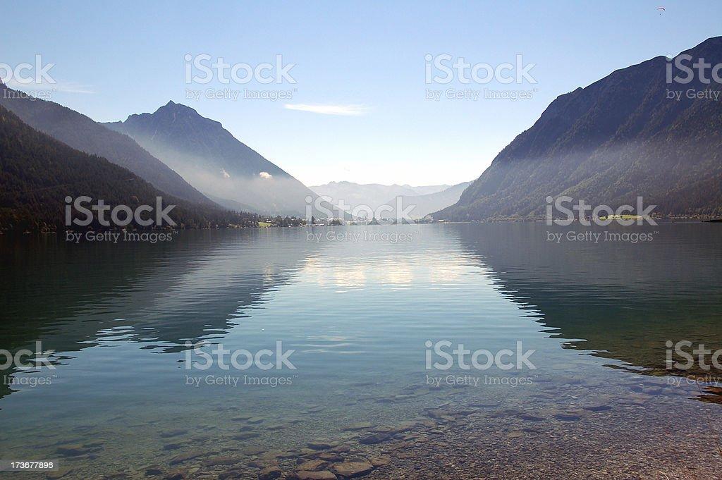 Lake Achensee View Toward Maurach royalty-free stock photo