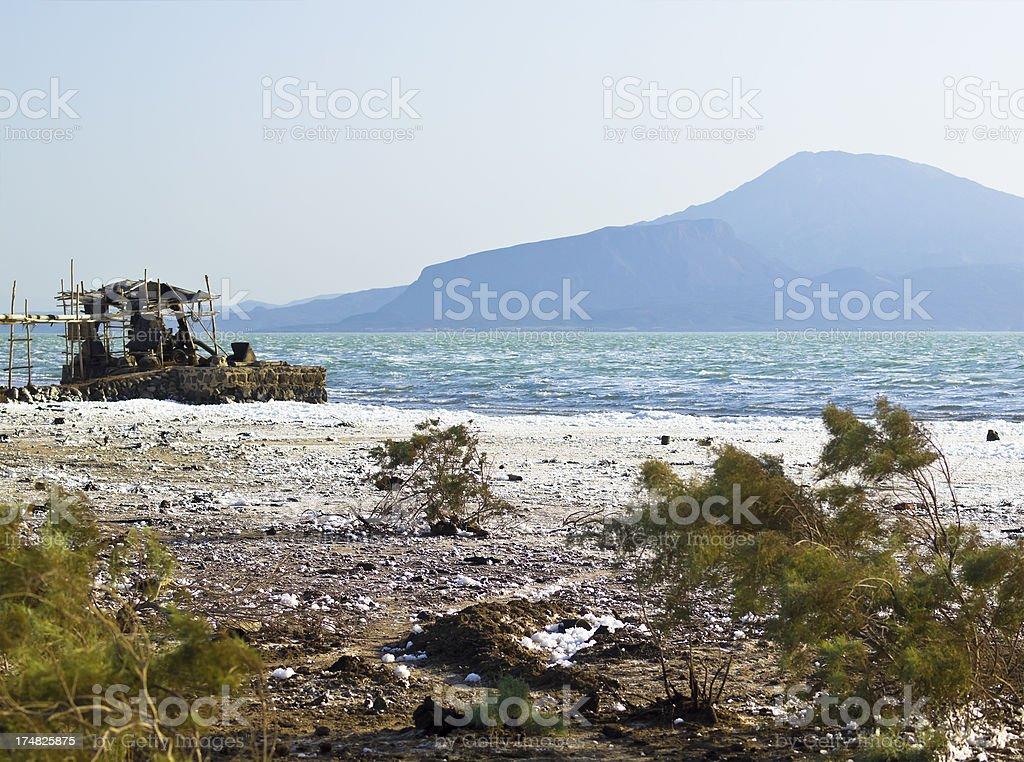 Lake Afrera stock photo