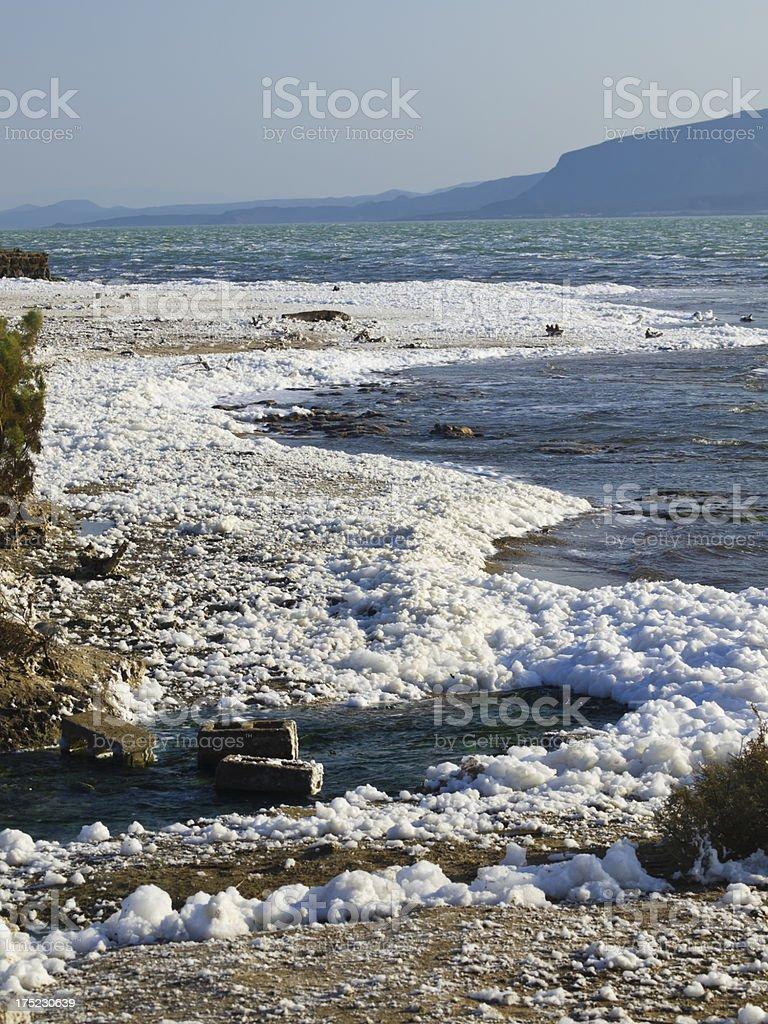Lake Afrera royalty-free stock photo