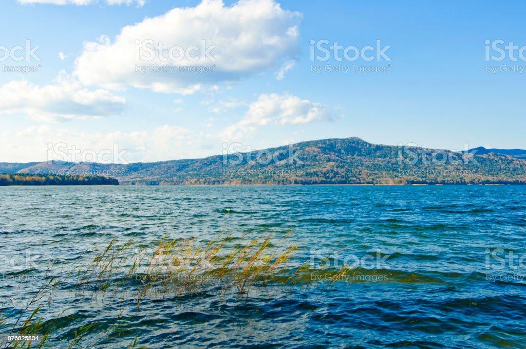 Lake Akan in autumn season, Hokkaido, Japan stock photo