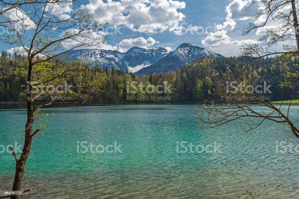 Lake Alatsee royalty-free stock photo