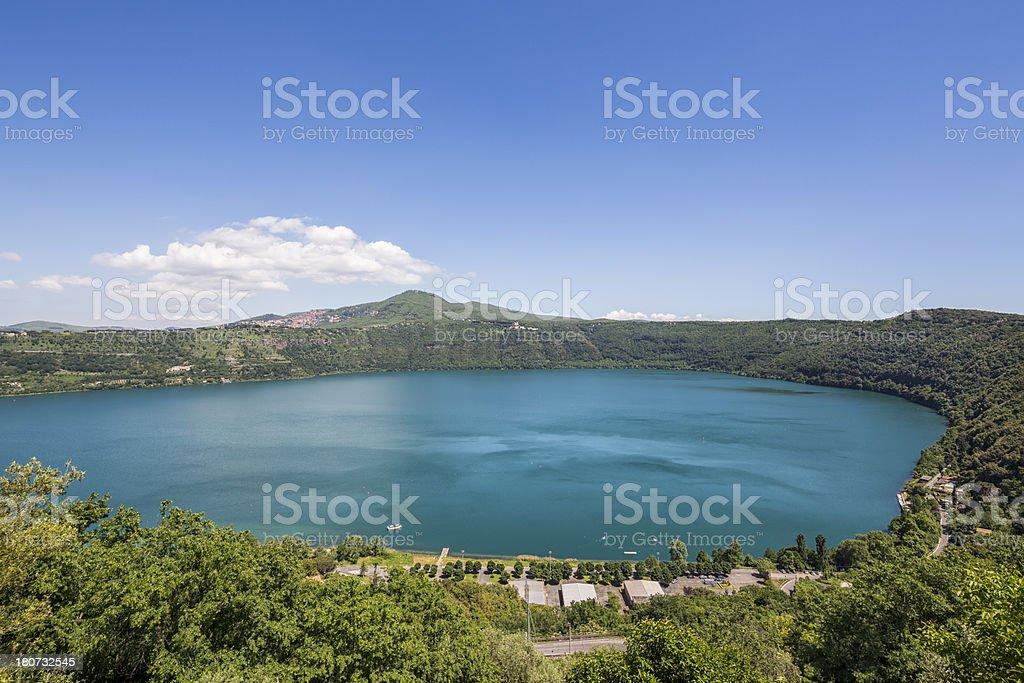 Lake Albano, Castelli Romani Lazio, Italy stock photo