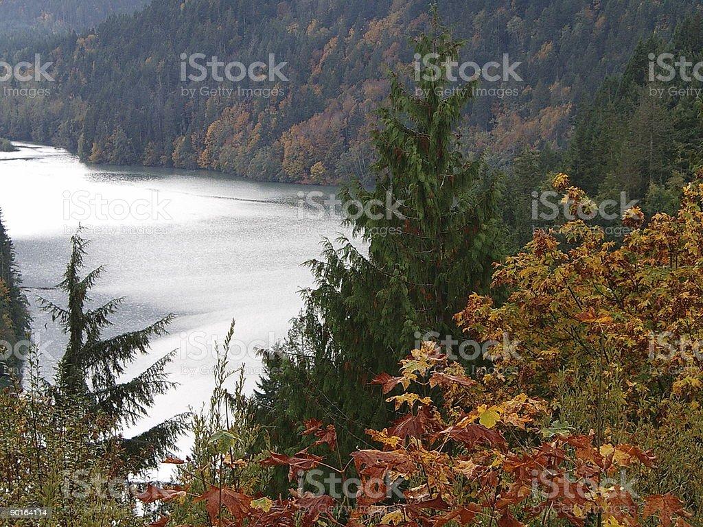 Lake Aldwell royalty-free stock photo