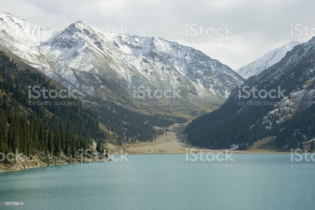 Lake Almaty royalty-free stock photo