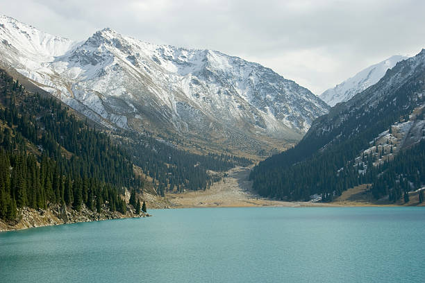 Lake Almaty stock photo