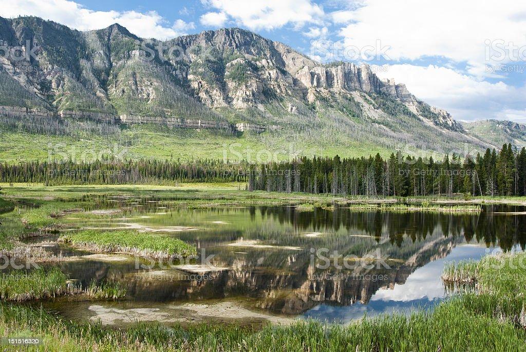 Lake along Chief Joseph Scenic Byway royalty-free stock photo