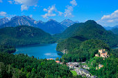 Lake Alpsee and Hohenschwangau Castle