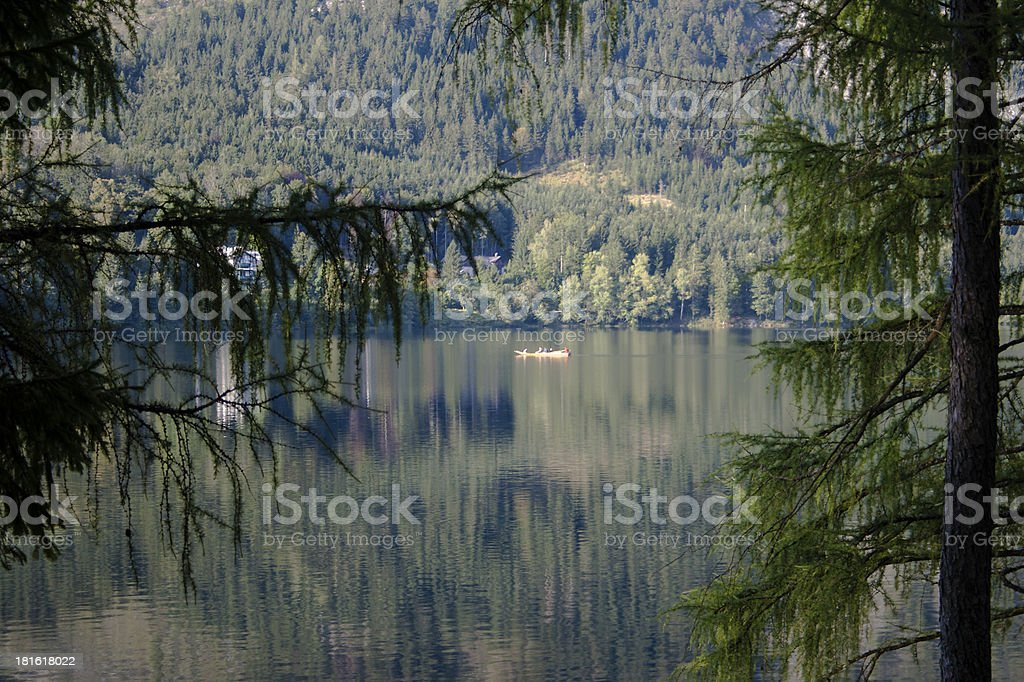 Lake Altaussee view to the north east stock photo