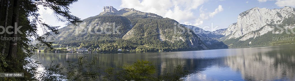 Lake Altaussee view to the north royalty-free stock photo