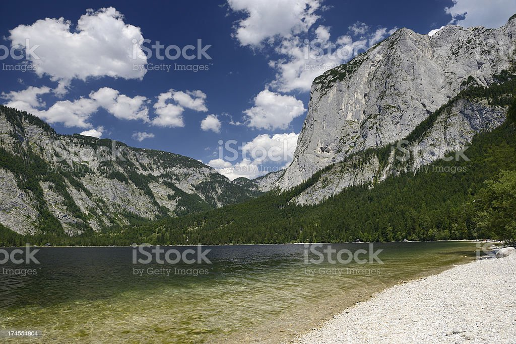 Lake Altaussee with Mountain Trisselwand, Austria royalty-free stock photo
