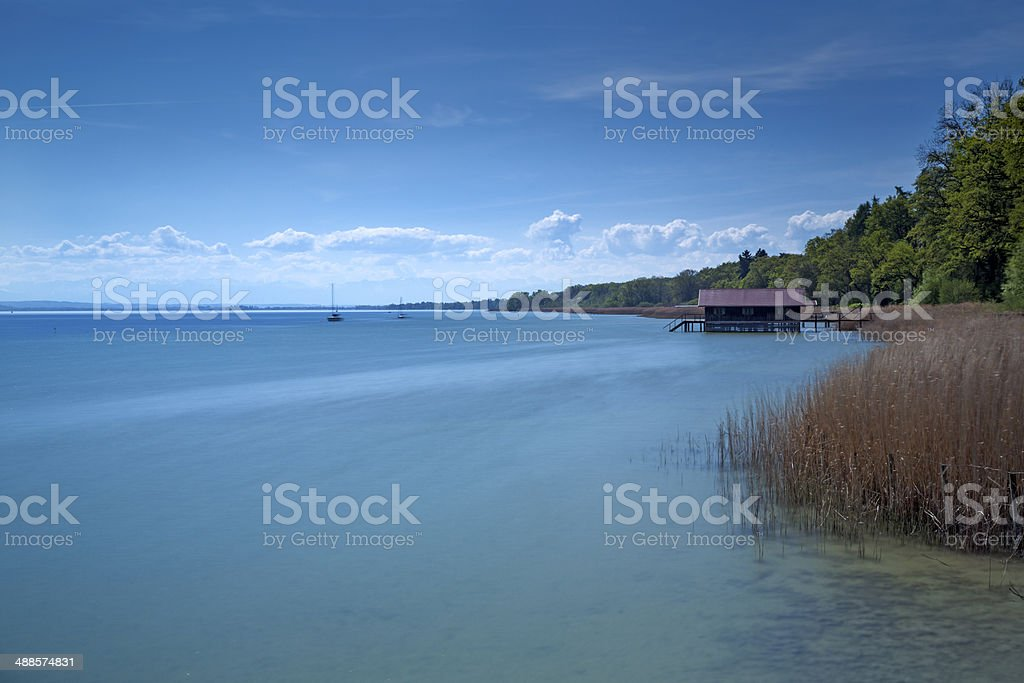 Lake Ammersee, Bavaria, Germany stock photo