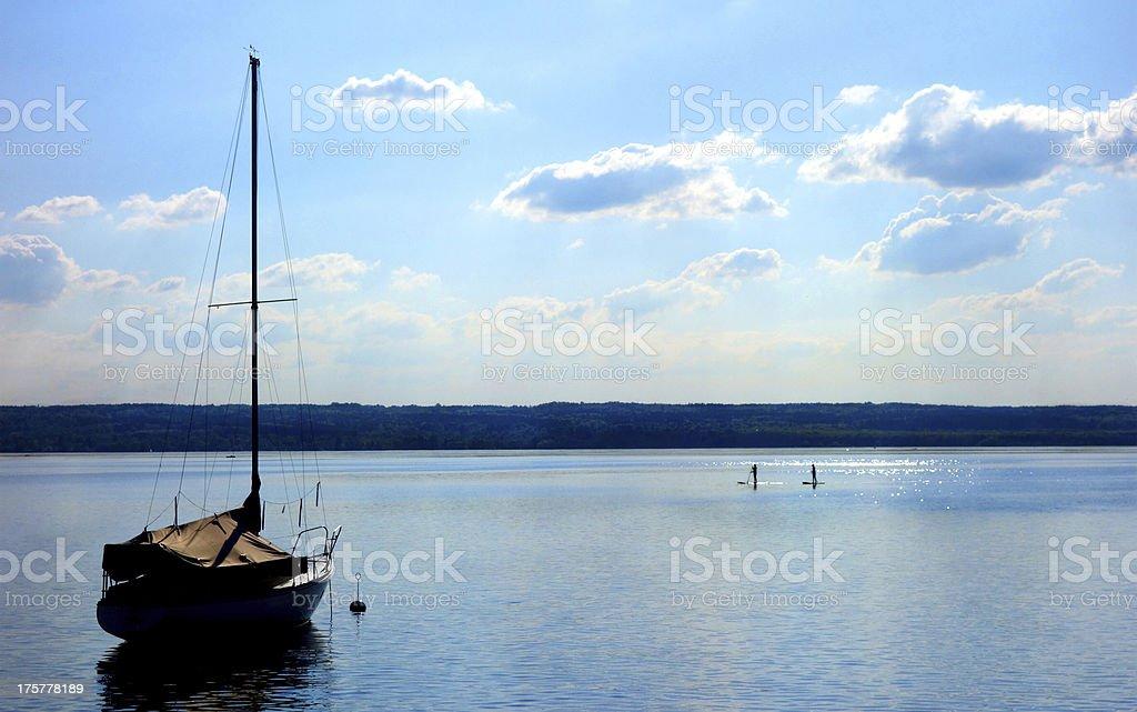 Lake Ammersee - Munich stock photo