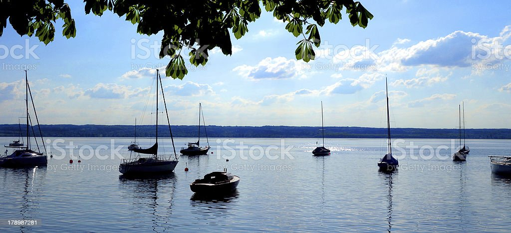 Lake Ammersee stock photo