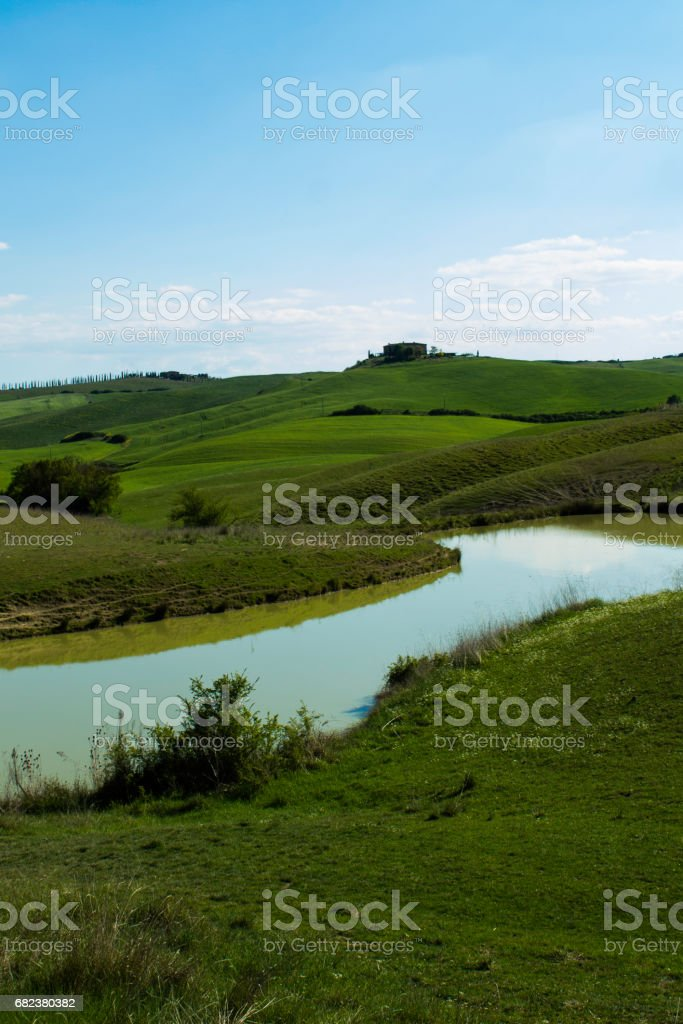 lake among the hills royalty-free stock photo