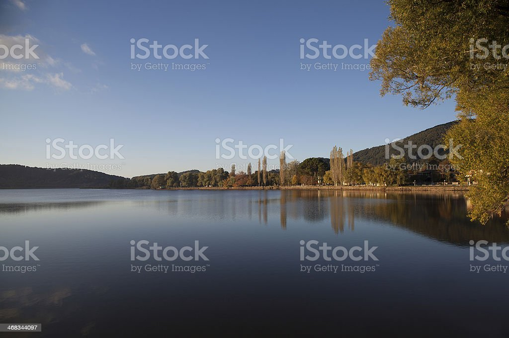 Lake and Autumn Reflection royalty-free stock photo