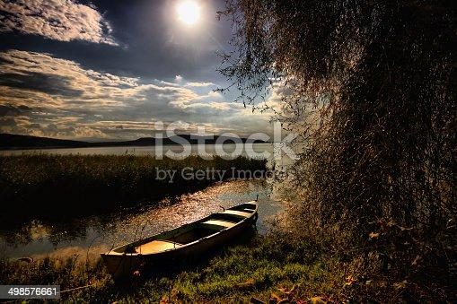 184332102istockphoto Lake and boat 498576661