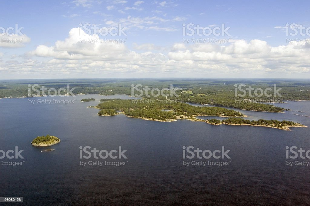 lake and islands royalty-free stock photo