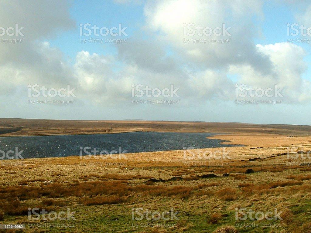 Lake and Moorland royalty-free stock photo