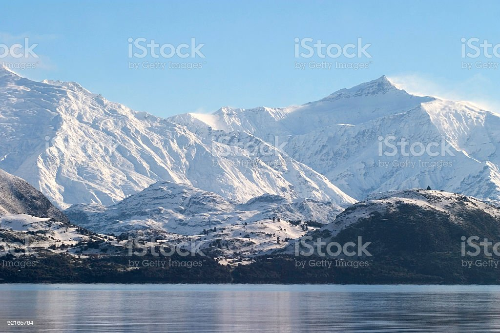 Lake and mountain royalty-free stock photo